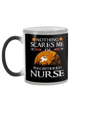 No Think Scares Me I'm Registered Nurse  Mug Color Changing Mug color-changing-left