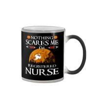 No Think Scares Me I'm Registered Nurse  Mug Color Changing Mug color-changing-right