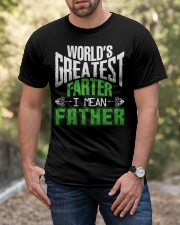 Father is world's greatest  Classic T-Shirt apparel-classic-tshirt-lifestyle-front-53