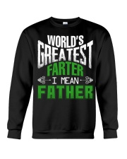 Father is world's greatest  Crewneck Sweatshirt thumbnail