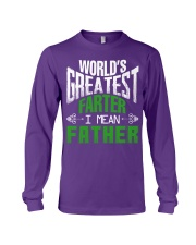 Father is world's greatest  Long Sleeve Tee thumbnail