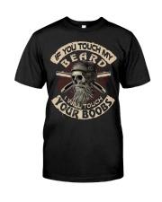 Love Beard and Skull Tshirt Classic T-Shirt front