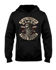 Love Beard and Skull Tshirt Hooded Sweatshirt thumbnail