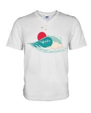 Big wave V-Neck T-Shirt thumbnail
