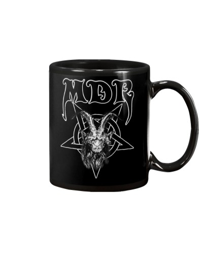 MDR Pentagram Black Coffee Mug