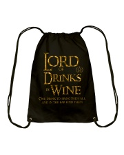 Lord of the Drinks is Wine Drawstring Bag thumbnail