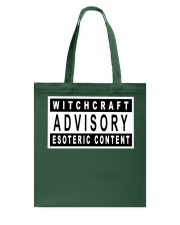 Witchcraft Advisory Tote Bag thumbnail