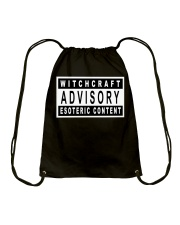 Witchcraft Advisory Drawstring Bag thumbnail