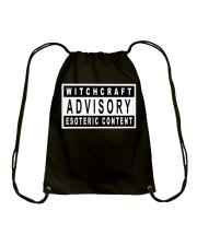 Witchcraft Advisory Drawstring Bag thumbnail