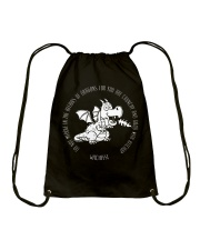 Do Not Mess With Dragons Drawstring Bag thumbnail