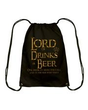 Lord of the Drinks is Beer Drawstring Bag thumbnail