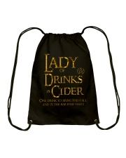 Lady of the Drinks is Cider Drawstring Bag thumbnail