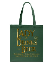 Lady of Drinks is Beer Tote Bag thumbnail