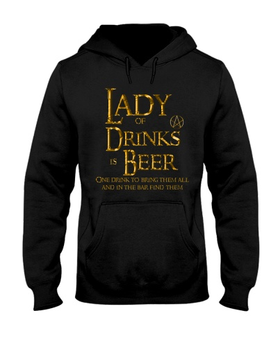 Lady of Drinks is Beer