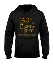 Lady of Drinks is Beer Hooded Sweatshirt thumbnail