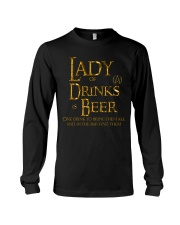 Lady of Drinks is Beer Long Sleeve Tee thumbnail