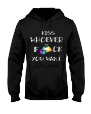 Kiss Whoever the fuck you want - Pride LGBT Hooded Sweatshirt thumbnail