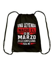 13 DE MARZO Drawstring Bag thumbnail