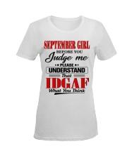 SEPTEMBER GIRL Z Ladies T-Shirt women-premium-crewneck-shirt-front