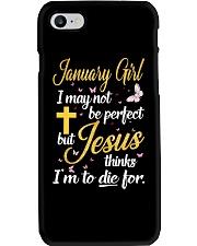 JANUARY GIRL-D Phone Case tile