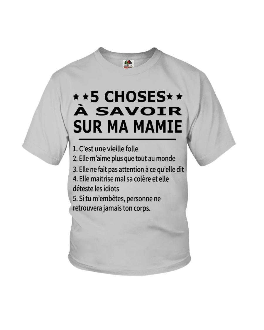 5 Choses Ma Mamie Youth T-Shirt