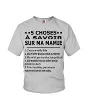 5 Choses Ma Mamie Youth T-Shirt front
