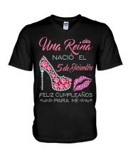 5 DE DICIEMBRE V-Neck T-Shirt tile