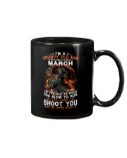 Grumpy old man March tee Cool T shirts for Men Mug thumbnail
