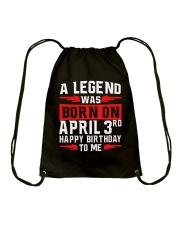 3rd April legend Drawstring Bag thumbnail