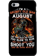 Grumpy old man August tee Cool T shirts for Men Phone Case tile