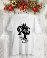 OCTOBER QUEEN Classic T-Shirt lifestyle-holiday-crewneck-front-2