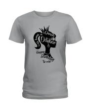 OCTOBER QUEEN Ladies T-Shirt thumbnail