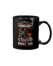 Grumpy old man Febuary tee Cool T shirts for Men Mug thumbnail