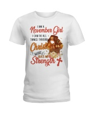 NOVEMBER GIRL  Ladies T-Shirt front