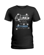 OCTOBER QUEEN Ladies T-Shirt tile