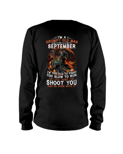 Grumpy old man September tee Cool Tshirts for Men