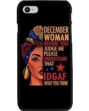 DECEMBER WOMAN Phone Case tile