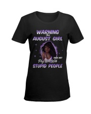 AUGUST GIRL Ladies T-Shirt women-premium-crewneck-shirt-front