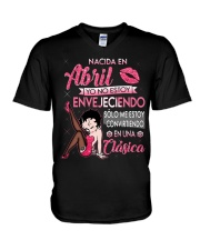 REINA DE ABRIL V-Neck T-Shirt thumbnail