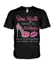 3 DE MARZO V-Neck T-Shirt thumbnail