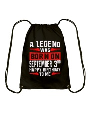 SEPTEMBER MAN Drawstring Bag thumbnail