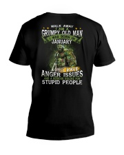 H - JANUARY MAN V-Neck T-Shirt thumbnail