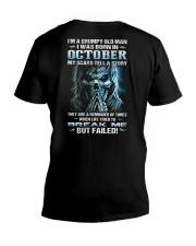 H - OCTOBER MAN V-Neck T-Shirt thumbnail