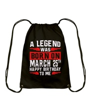 25th March legend Drawstring Bag thumbnail