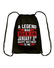 22nd January legend Drawstring Bag thumbnail