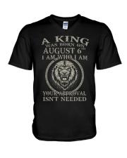 AUGUST KING 6 V-Neck T-Shirt tile