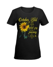 OCTOBER GIRL Ladies T-Shirt women-premium-crewneck-shirt-front