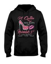 NOVEMBER QUEEN 3rd Hooded Sweatshirt thumbnail