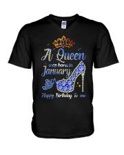 JANUARY QUEEN V-Neck T-Shirt tile
