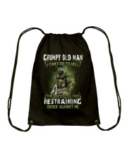 H- GRUMPY OLD MAN Drawstring Bag thumbnail